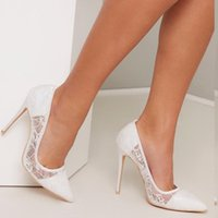 Dress Shoes Women Pumps Sexy Lace Mesh Wedding Mujer Zapatos Pointed Toe Ladies Sandals Summer Elegant Female High Heels Party