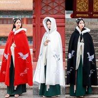 Wraps & Jackets Winter Long Warm Wedding Capes White Cloak Floor Length Bride Shawl Faux Fur Cape Coat Adult Bridal Wrap 115CM