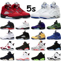 air jordan 5 What The Fire Red DUCKS Grape Island Green White Cement Trophy Room 남성 트레이너 스니커즈 스포츠 사이즈 40-47