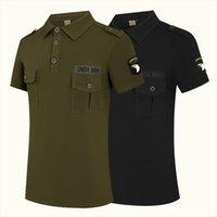 Homem camisa Casual União Mens Pólos Exército 101st Airborne Elastic Algodão Manga Curta Quantidade Militares