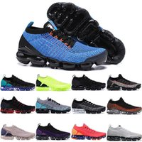 2019 New Fly Max 3.0 Men Mujer Mujeres Running Shoes Triple Negro Blanco Blue Knit Cushion 2018 Sneakers Designer Sport Shoes 36-46 T5-B3