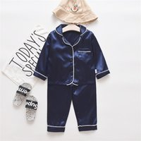Toddler Bébé garçons manches longues à manches longues supérieures + pantalons pyjamas vêtements de nuit Set 2 PCS Vêtements Vêtements Sprig Outfits d'automne0 786 S2