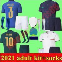 İtalya Futbol Forması 2021 Yetişkin Kitleri Barella Shaarawy Bonucci Sensi Insigne 21 22 Renaissance Chiellini Bernardeschi Futbol Gömlek Erkekler Kiti Üniformaları