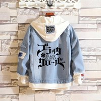Men's Hoodies & Sweatshirts Asta Denim Men women Autumn Spring Hooded Kawaii Streetwear Outwear Coat Hip Hop Clothes Anime Black Clover Cost