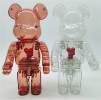 New 400% 28CM Bearbrick The ABS design of hearts Fashion bear figures Toy For Collectors Be@rbrick Art Work model decoration toys