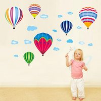 Wall Stickers Eco-friendly Air Balloon For Kids Room Nursery Bedroom Decor Self-adhesive Decals Art Home Murals Dc38