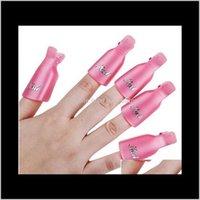 Оборудование NailPolishRemover 10 шт. Пластиковый акриловый ногтей Art Soak Off Clip Cap Cap UV GEL Polish Remover Wrap Tool BMLUO HQSQL
