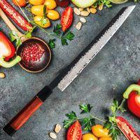 """67 слоев Damascus Steel Citchen 11 """"Yanagiba Шеф-повар Нож с черным деревом Ручка Профессиональные суши Ножи для кулинарии"""