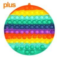 Nuova Tiktok Big Size Colorful Push Pops Fidget Bubble Sensory Squishy Stress Stress Reliever Autism Ha bisogno Anti-stress Pop-It Rainbow Giocattoli per adulti