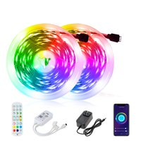 16.4ft 32.8ft 50ft 65.6ft LED Strips 5m 10m 15m 20m RGB 5050 Smart Light Strip With WIFT Bluetooth Controller