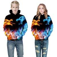 Женские толстовки толстовки 20203D цифровая печатная свитер длинной осенью зимнее пальто Детская мода