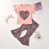Designers Clothes Kids Outfit Set Baby Girls Tops leopard Flared pieces sets 021 summer girl mermaid short sleeve gauze dance skirt Pants De