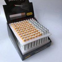 100 pcs / lot Forme de cigarette Fumeurs Tuyaux de tabac de 78mm 55mm Mini Main Tabac Tuyau de tabac à tabac de tabac de tabac de tabac de tabac en aluminium en aluminium Céramique une chauve-souris