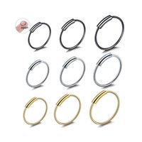 & Studs Jewelryhoop Nose Rings For Women Men 316L Surgical Steel Earring Body Piercing Jewelry Drop Delivery 2021 Hfwqf