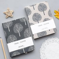 Cloth Art Grid Blank Page Notebook Kawaii A5 Journal Agenda 2021 Diary Notepad School Stationery Supplies Weekly Planner Gift Notepads