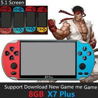 5.1 Inch 8G Rom X7 Plus Double Rocker Handheld Game Player Retro Handheld Game Console MD SFC GBA PAP Game MP4 5 Player with TV Out TF Video