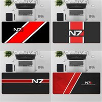 Mouse Pads & Wrist Rests YNDFCNB High Quality Mass Effect N7 Game Logo Comfort Mat Gaming Mousepad Rubber Computer