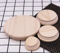 Factory Outlet Wooden Mason Jar Lids 8 Sizes Environmental Reusable Wood Bottle Caps With Silicone Ring Glass Sealing Cover Dust