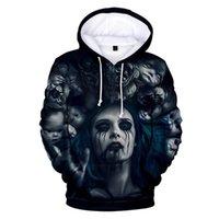 Men's Hoodies & Sweatshirts 2021 Happy Halloween Men Women Terror Horrifying Face Hoodie Boy Girls 3D Cap Hoody Hooded Brand Coats