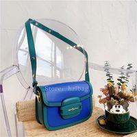 Horsebit 1955 작은 어깨 가방 대각선 Matelasse 지갑 지갑 청록색 가죽 사랑하는 크로스 바디 가방 플랩 디자이너 가방