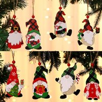 크리스마스 트리 나무 펜 던 트 나무 공예 축제 인형 장식 선물 아이 장난감 홈 크리스마스 트리 DIY 새해 BWF11153