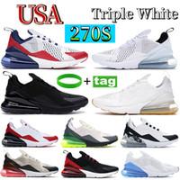 Uomini Scarpe da corsa 270OG estate gradienti triple nero di modo da jogging Sport Mens 27c superiori di formatori Designer Sneakers 36-45