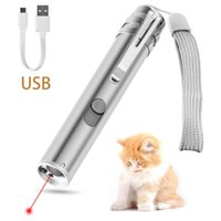 Cat Toys Creative Funny Pet Supplies Puppy Dogs Chew Molar LED Red Dot Laser Toy USB Interactive