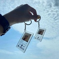 Custom Acrylic Music Code Keychain Women Men Personalized Photo Album Cover Song Art Player Name Date Spotify Key Chain Rings