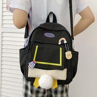 School Bags 2021 Korean Style All-match Women's Backpack Nylon Waterproof And Anti-theft Crossbody Bag