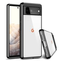 For Google Pixel 6 Clear Acrylic Cases Hard PC Soft TPU Shockproof Protective Cover Pixel6 Pro Pixel5A