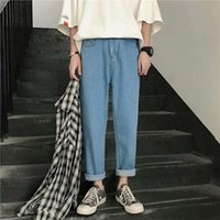 Slim Fit Jeans Pantolon Erkekler Için 2021 Moda Trendleri Rahat Giyim Artı Boyutu Genç Düzenli Mavi Denim Pantolon Erkek Arkadaşı Streetwear Erkekler