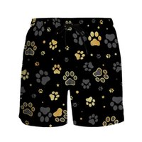 Men's Shorts Summer Casual Men Cat Prints Breathable Quick Dry Surfing Beach Pants Sweethearts Outfit Sports Running