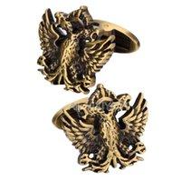 Yixiyoyi Vintage Gold Silber Farbe Flying Eagle Manschettenknopf Für Mens Hemd Manschette Metall Manschettenknöpfe Für Mann Party Punk Männlich Geschenk