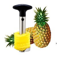 과일 도구 스테인레스 스틸 파인애플 필러 커터 슬라이서 코어 껍질 코어 나이프 가제트 주방 용품 DHD6113