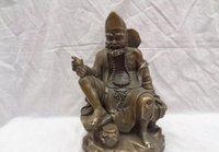 11 الصينية البرونزية النحاس البوذية جوس جي غونغ أرهات ليفينجبودها القرع تمثال