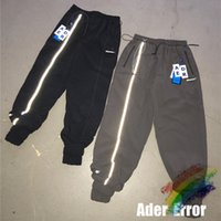 Jogger Pantolon Erkekler Kadınlar Yan Beyaz Şerit Yansıtıcı Şerit Sweatpants Eşofman Pantolon Etiketi