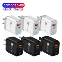 20W QC3.0 PD Quick Charger Fast Charging USB Type C Portable Wall Power Adapter For Mobile Phone