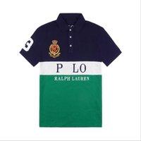 Вышивка свободная шить с короткими рукавами Буквы мужской молодежь повседневная половая рубашка американская летняя мода городской отворот футболка