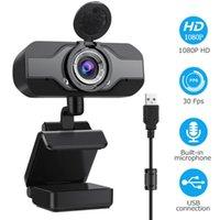 Webcams Full HD 1080P Webcam USB grandangolare con microfono Web Cam Portatile per laptop Tecnica per conferenze online Telecamere Anti Peeping WebCame