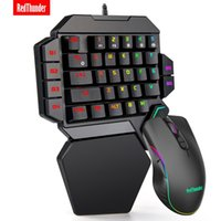 RedThunder One-Handed Mechanical Keyboard RGB Backlit Portable Mini Gaming Keypad Game Controller for PC PS4 Xbox Gamer