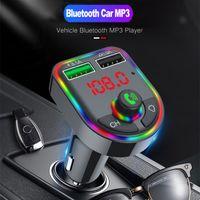 Bluetooth 5.0 FM Transmetteur Car Kit de voiture MP3 Modulator Modulateur Lecteur de musique sans fil Récepteur Audio Dual USB Fast Charger Car