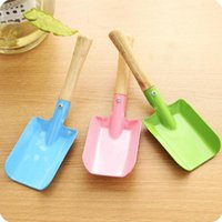 Spade & Shovel Colorful Mini Metal Garden Hand With Wooden Handle Flower Trowel For Planting, Weeding, Transplanting And Digging