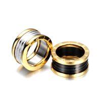 Frauen weben verdrehte gold farbe hochzeit ringe edelstahl anillos joeas de mujer schmuck großhandel tropfen versand 1044 t2