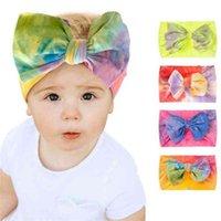 children's tie dye headband elastic wide brim baby girl headbands headband girls hair bows clips accessories head bands for children G698HYU