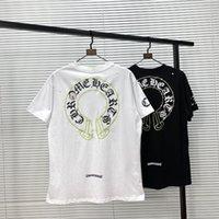 2021 Crosin CH CORTE FLOR CORTE RATAN HORSESHOE Amantes de los amantes de la manga de la camiseta de la camiseta de la camiseta de la camiseta de la camiseta de los hombres y las mujeres.