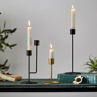Candle Holders Ins Wrought Iron Candlestick Simplicity Candel Holder Decoration Ornaments Home Decor Furnishings Wedding Decorations Props