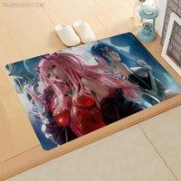 Carpets Anime Flannel Door Mat DARLING In The FRANXX 3D Printed Floor Rugs Non-slip Mats For Outdoor Bathroom Kitchen