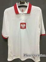 플레이어 버전 21 22 Polonia 축구 유니폼 국립 대표팀 2021 2122 Glik Lewandowski Szymanski Zielinski Camisetas 축구 셔츠 태국
