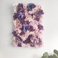 """Decorative Flowers & Wreaths Artificial Flower Panels 16 X 24"""" Wall Background Silk Rose For Backdrop Wedding Party Decoration"""