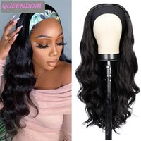 Synthetic Wigs Long Body Wave Headband For Black Women Natural Wig With Turban Hair Heat Resistant Cosplay Headwrap